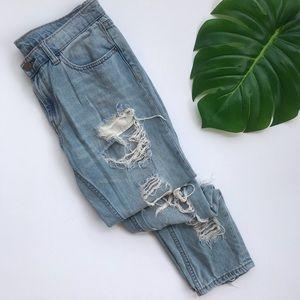 UO BDG distressed boyfriend jeans low rise